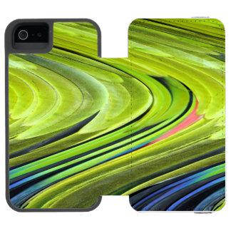 Coque-portefeuille iPhone 5 Incipio Watson™ Plumes Jaunes-Naped de perroquet d'Amazone par