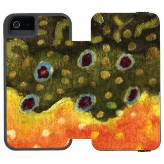 Coque-portefeuille iPhone 5 Incipio Watson™ Poissons de truite de ruisseau