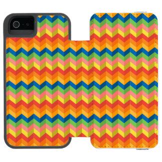 Coque-portefeuille iPhone 5 Incipio Watson™ rayure de zigzag