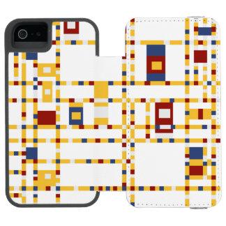 Coque-portefeuille iPhone 5 Incipio Watson™ Se blanc d'iPhone d'Incipio Watson™ + mur de