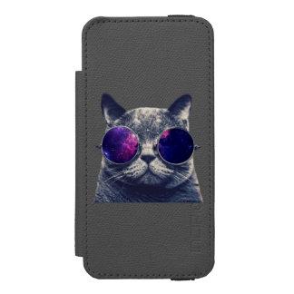 Coque-portefeuille iPhone 5 Incipio Watson™ Se noir d'iPhone d'Incipio Watson™ + mur de