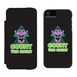 Coque-portefeuille iPhone 5 Incipio Watson™ Style 2 de von Count Classic de compte