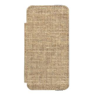 Coque-portefeuille iPhone 5 Incipio Watson™ Toile de jute rustique de cru de pays
