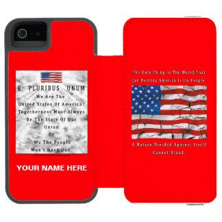Coque-portefeuille iPhone 5 Incipio Watson™ Une nation divisée