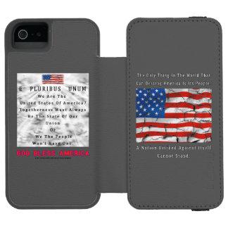 Coque-portefeuille iPhone 5 Incipio Watson™ Une nation divisée - un DIEU BÉNISSENT l'AMÉRIQUE