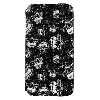 Coque-portefeuille iPhone 6 Incipio Watson™ arrière - plan de crâne