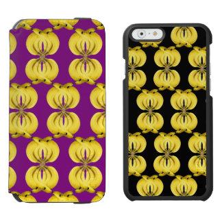 Coque-portefeuille iPhone 6 Incipio Watson™ Art tropical jaune d'or de nourriture de damassé