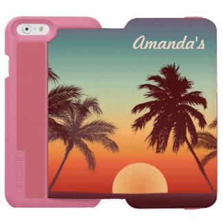 Coque-portefeuille iPhone 6 Incipio Watson™ Beau coucher du soleil de la Floride