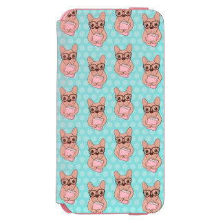 Coque-portefeuille iPhone 6 Incipio Watson™ Bouledogue français ringard