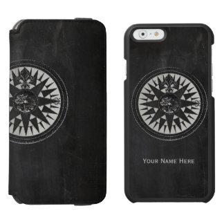 Coque-portefeuille iPhone 6 Incipio Watson™ Boussole nautique sur le tableau noir