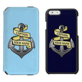 Coque-portefeuille iPhone 6 Incipio Watson™ Capitaine de bateau personnalisable votre ancre