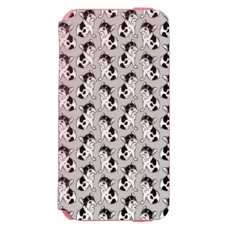 Coque-portefeuille iPhone 6 Incipio Watson™ Chiot pie Brindle de Frenchie
