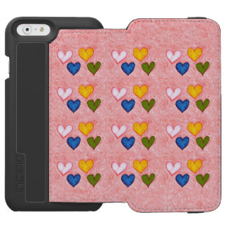 Coque-portefeuille iPhone 6 Incipio Watson™ Coeurs vivants