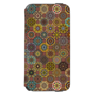 Coque-portefeuille iPhone 6 Incipio Watson™ Conception abstraite colorée de motif de tuile