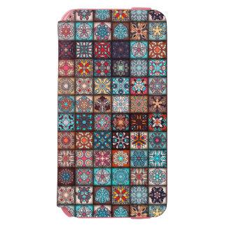 Coque-portefeuille iPhone 6 Incipio Watson™ Conception abstraite colorée de motif de tuile