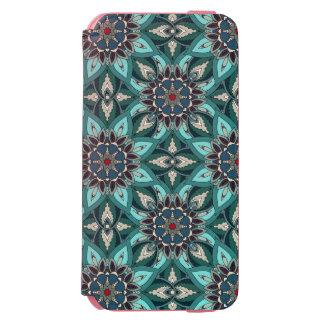 Coque-portefeuille iPhone 6 Incipio Watson™ Conception florale de motif d'abrégé sur mandala