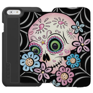Coque-portefeuille iPhone 6 Incipio Watson™ Crâne doux de sucre