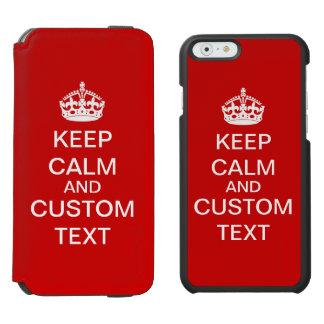 Coque-portefeuille iPhone 6 Incipio Watson™ Créez vos propres gardent le calme et perpétuent