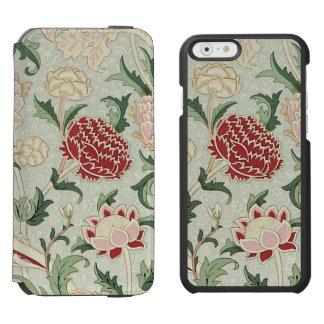 Coque-portefeuille iPhone 6 Incipio Watson™ Cru floral de Pre-Raphaelite de William Morris