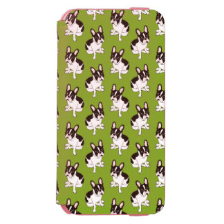 Coque-portefeuille iPhone 6 Incipio Watson™ Double bouledogue français pie à capuchon mignon