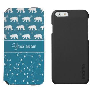 Coque-portefeuille iPhone 6 Incipio Watson™ Étoiles de scintillement d'ours blancs