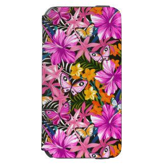 Coque-portefeuille iPhone 6 Incipio Watson™ Feuille et fleurs tropicaux