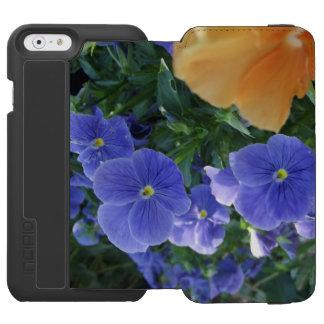 Coque-portefeuille iPhone 6 Incipio Watson™ Fleur orange et caisse pourpre de téléphone de