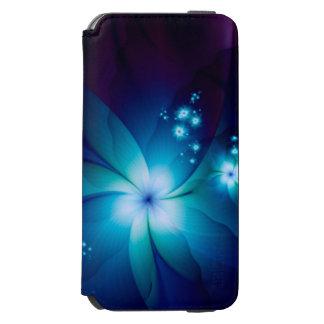 Coque-portefeuille iPhone 6 Incipio Watson™ Fleurs bleues élégantes de fractale