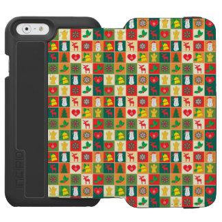Coque-portefeuille iPhone 6 Incipio Watson™ Grand motif de Noël