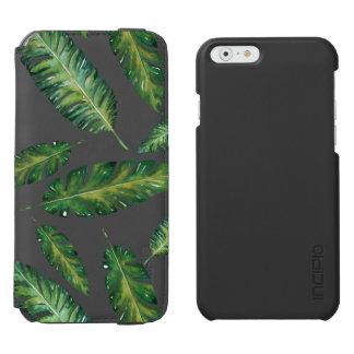Coque-portefeuille iPhone 6 Incipio Watson™ La banane d'aquarelle part du motif tropical d'été