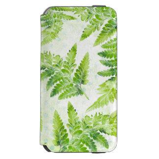 Coque-portefeuille iPhone 6 Incipio Watson™ La fougère verte part de la belle aquarelle