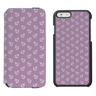 Coque-portefeuille iPhone 6 Incipio Watson™ Le blanc ancre le motif d'arrière - plan de