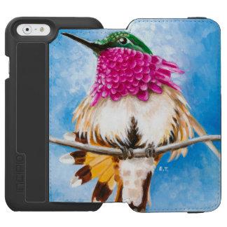 Coque-portefeuille iPhone 6 Incipio Watson™ Le colibri de la côte