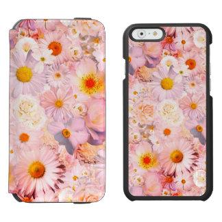 Coque-portefeuille iPhone 6 Incipio Watson™ Le rose fleurit le ressort nuptiale de mariage
