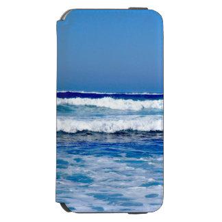Coque-portefeuille iPhone 6 Incipio Watson™ L'Océan Atlantique bleu profond ondule sur la