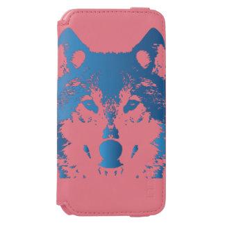 Coque-portefeuille iPhone 6 Incipio Watson™ Loup de bleu glacier d'illustration