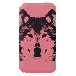 Coque-portefeuille iPhone 6 Incipio Watson™ Loup noir d'illustration