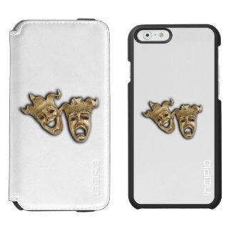 Coque-portefeuille iPhone 6 Incipio Watson™ Masques de théâtre de comédie et de tragédie