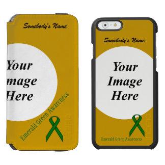 Coque-portefeuille iPhone 6 Incipio Watson™ Modèle standard de ruban de vert vert