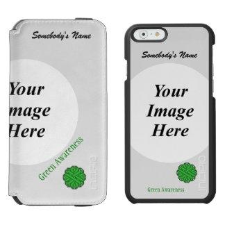 Coque-portefeuille iPhone 6 Incipio Watson™ Modèle vert de ruban de fleur