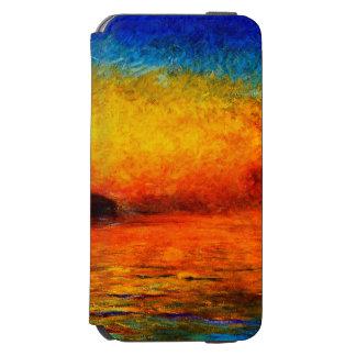 Coque-portefeuille iPhone 6 Incipio Watson™ Monet-Coucher du soleil de Claude à Venise