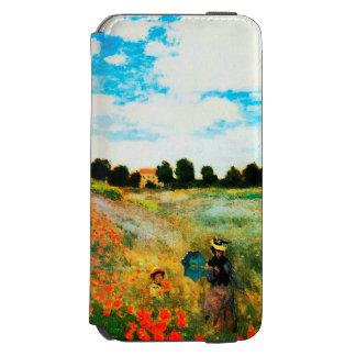 Coque-portefeuille iPhone 6 Incipio Watson™ Monet-Pavots de Claude à Argenteuil