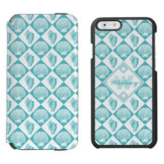Coque-portefeuille iPhone 6 Incipio Watson™ Monogramme nautique de plage de diamant bleu de