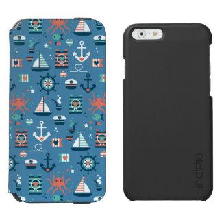 Coque-portefeuille iPhone 6 Incipio Watson™ Motif maritime de capitaine nautique bleu mignon