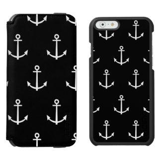 Coque-portefeuille iPhone 6 Incipio Watson™ Motif noir et blanc 1 d'ancres