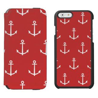 Coque-portefeuille iPhone 6 Incipio Watson™ Motif rouge et blanc 1 d'ancres