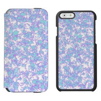 Coque-portefeuille iPhone 6 Incipio Watson™ Neige futuriste rose bleue de laser du monde givré