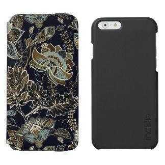 Coque-portefeuille iPhone 6 Incipio Watson™ Paisley antique fleurit le motif noir d'arrière -