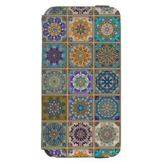 Coque-portefeuille iPhone 6 Incipio Watson™ Patchwork vintage avec les éléments floraux de