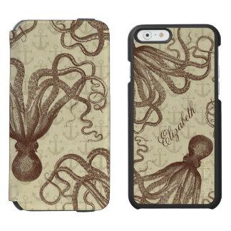 Coque-portefeuille iPhone 6 Incipio Watson™ Poulpe vintage de Brown avec des ancres